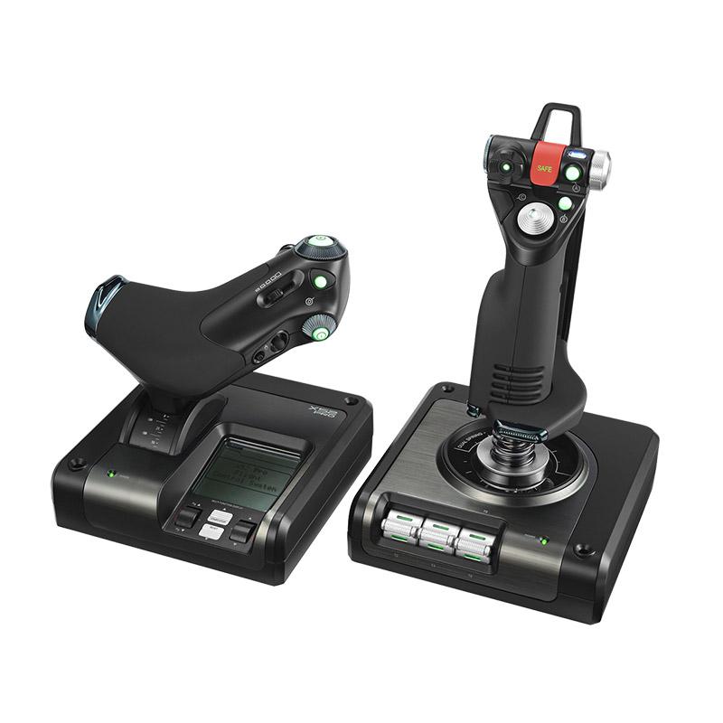 罗技X52 PROFESSIONAL HOTAS金属部件的油门和摇杆模拟控制器