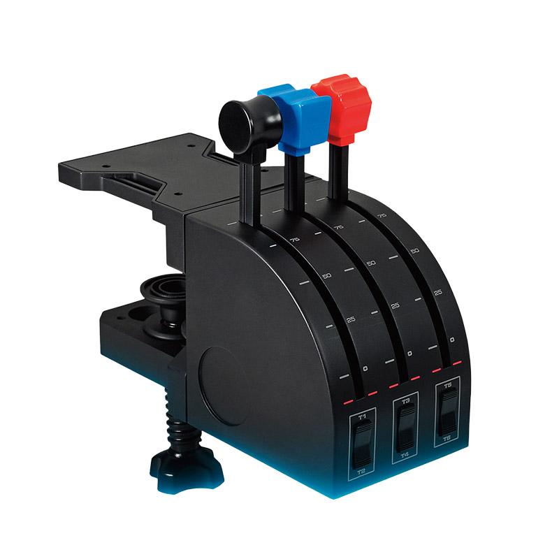 罗技Flight Throttle Quadrant专用轴杆仿真控制器