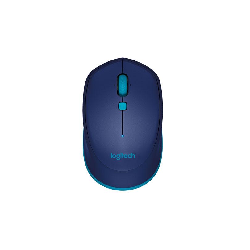 罗技M337蓝牙无线鼠标 商务办公电脑笔记本WIN7/8 MAC(蓝色)