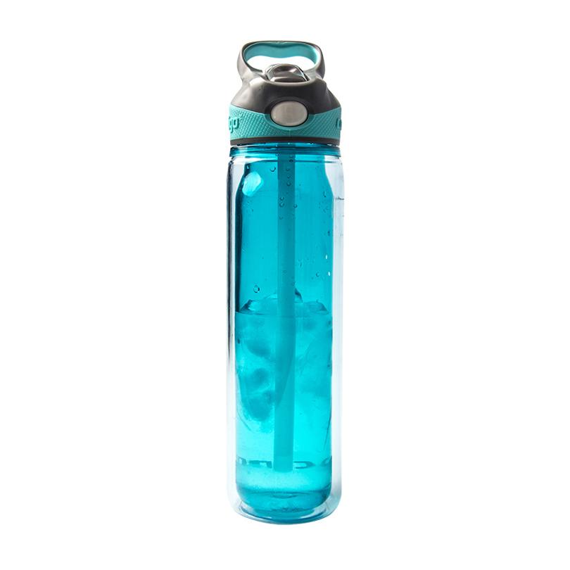contigo 单层运动吸管杯 户外运动塑料水杯750ML 天蓝色HBC-ADN027