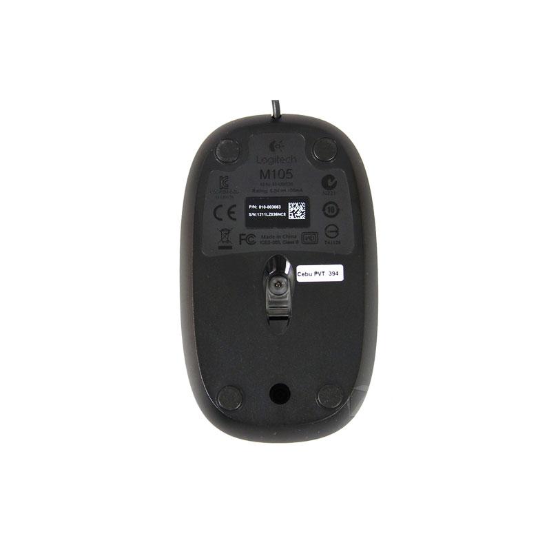 Logitech罗技 M105 有线光学鼠标【黑色】