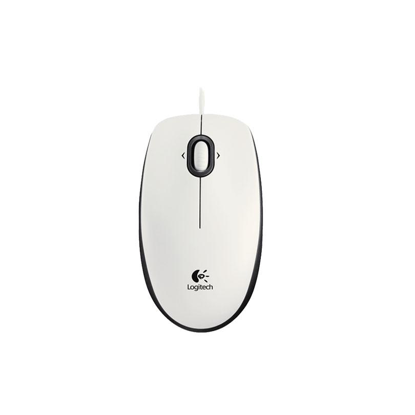 Logitech罗技 M100 二代(白色)有线鼠标