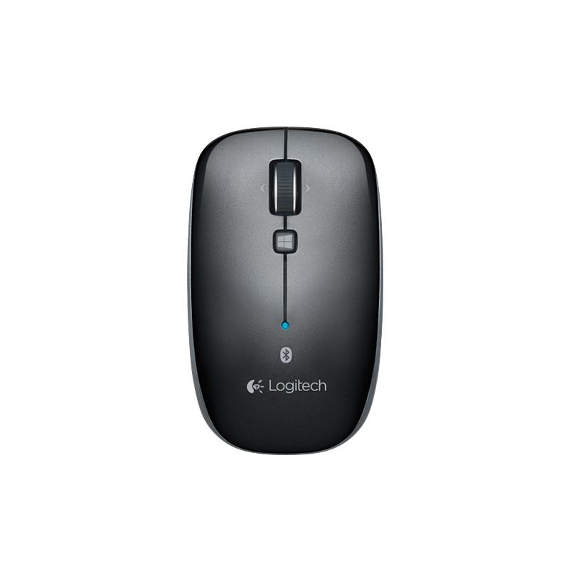 无线蓝牙多平台兼容鼠标 罗技M557(黑色) WIN8 MAC等多平台无线蓝牙鼠标
