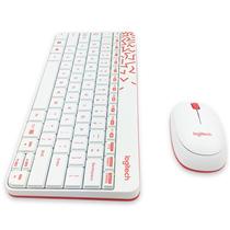 罗技 MK240 Nano无线键鼠套装 白色