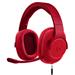 罗技 G433 7.1 有线环绕声游戏耳机麦克风 红色