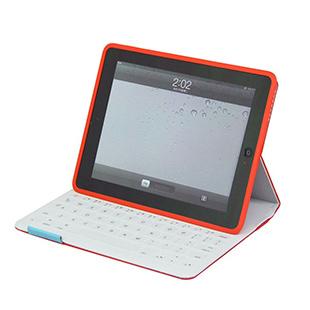 罗技ik800 iPad2/3/4平板电脑键盘盖 布艺键盘保护套(红色)