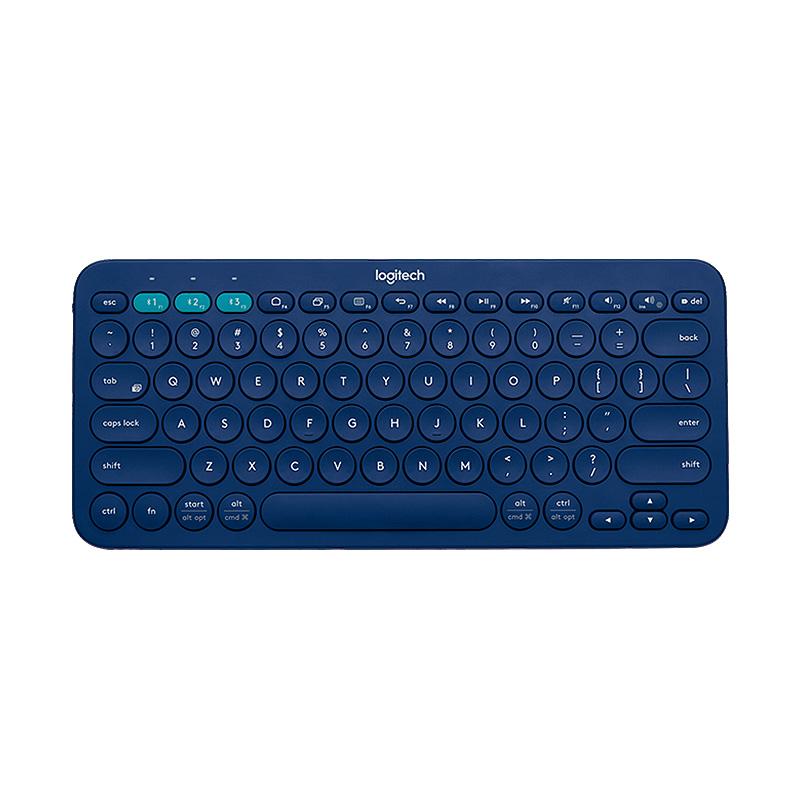 罗技 K380多设备蓝牙键盘 蓝色
