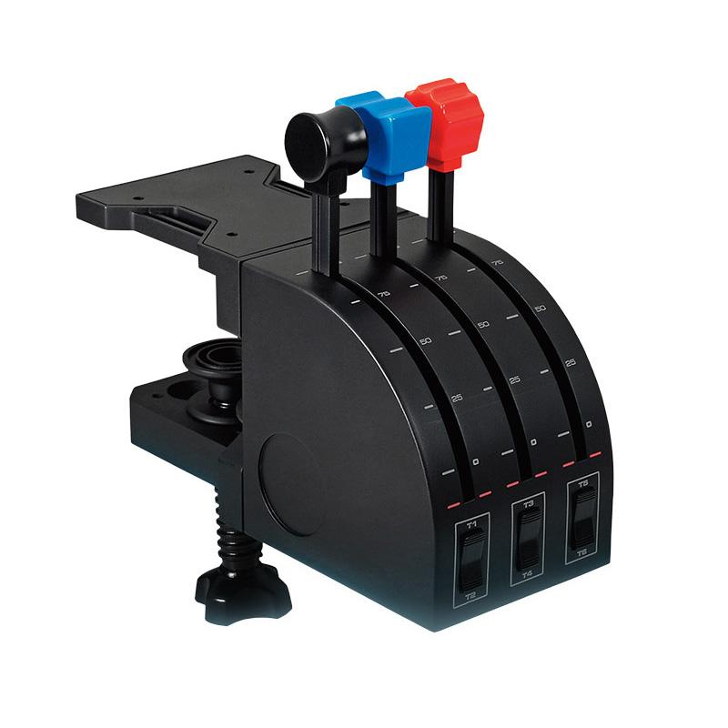 罗技 Flight Throttle Quadrant专用轴杆仿真控制器
