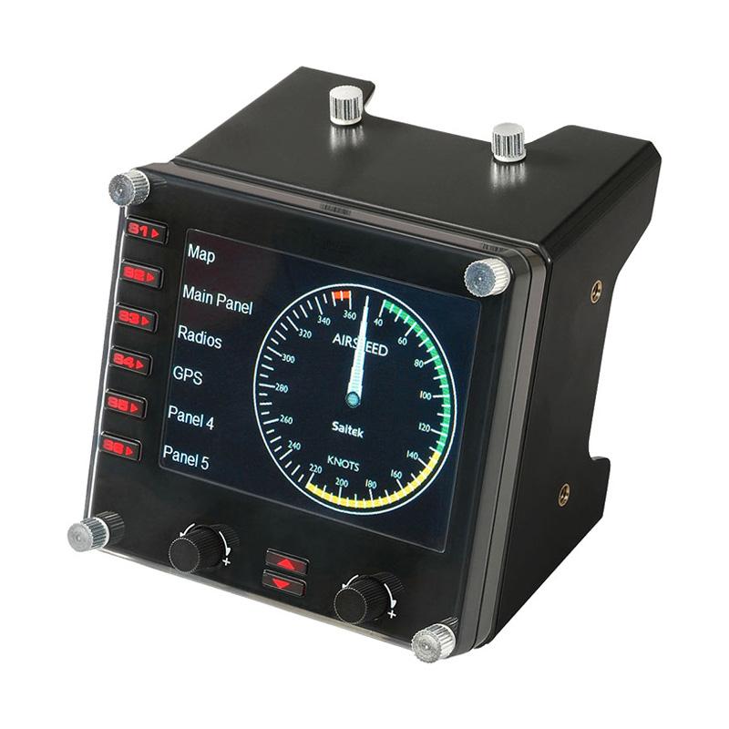 罗技 Flight Instrument Panel专用多仪表 LCD 面板模拟控制器