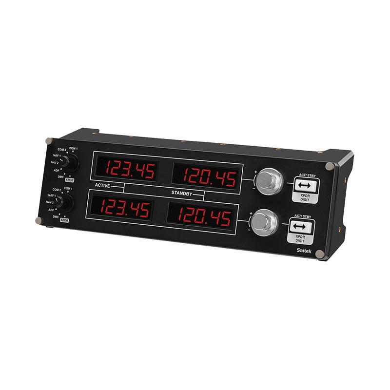 罗技 Flight Radio Panel 专用驾驶舱模拟无线电控制器