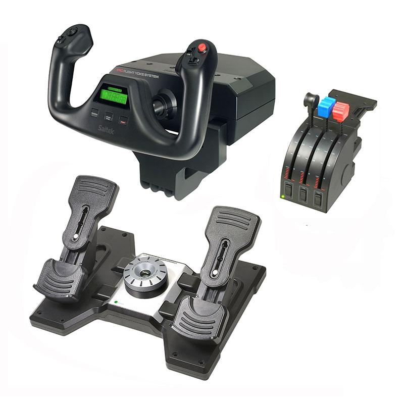 罗技 Flight Yoke System+Flight Rudder Pedals组合