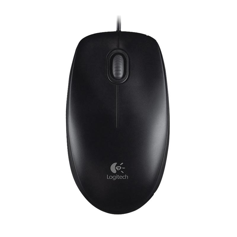 Logitech罗技 M100 二代(黑色)有线鼠标