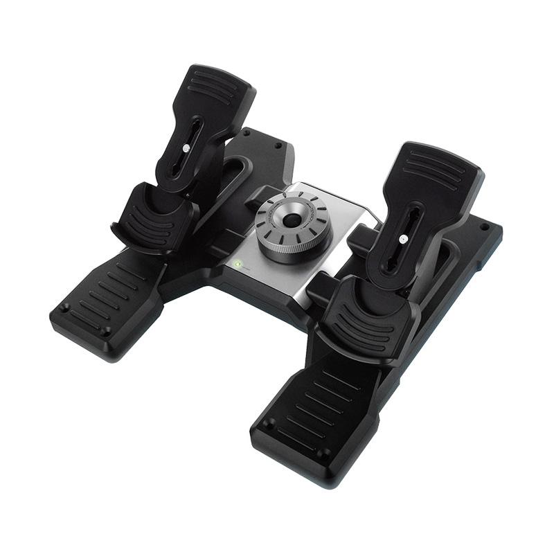 罗技 Flight Rudder Pedals带脚尖制动模拟控制器的专用方向舵踏板