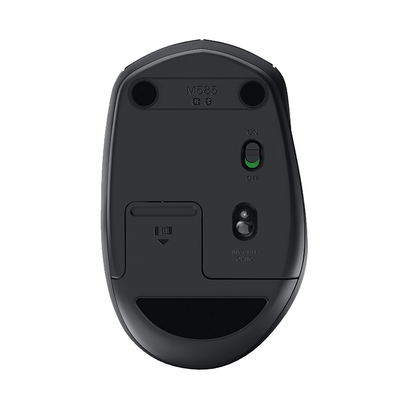 罗技 M585蓝牙无线鼠标 石墨黑