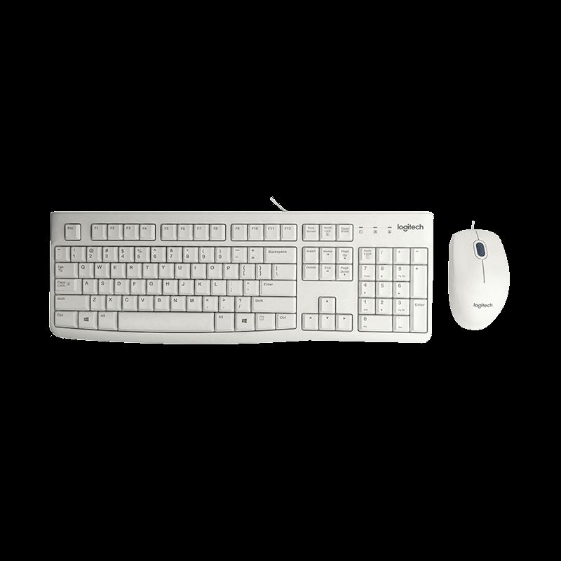 罗技 MK120有线键鼠套装 白色