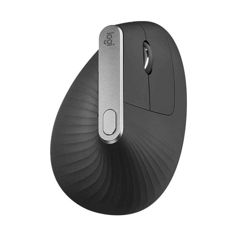 罗技 MX Vertical垂直鼠标 人体工程学鼠标 灰色