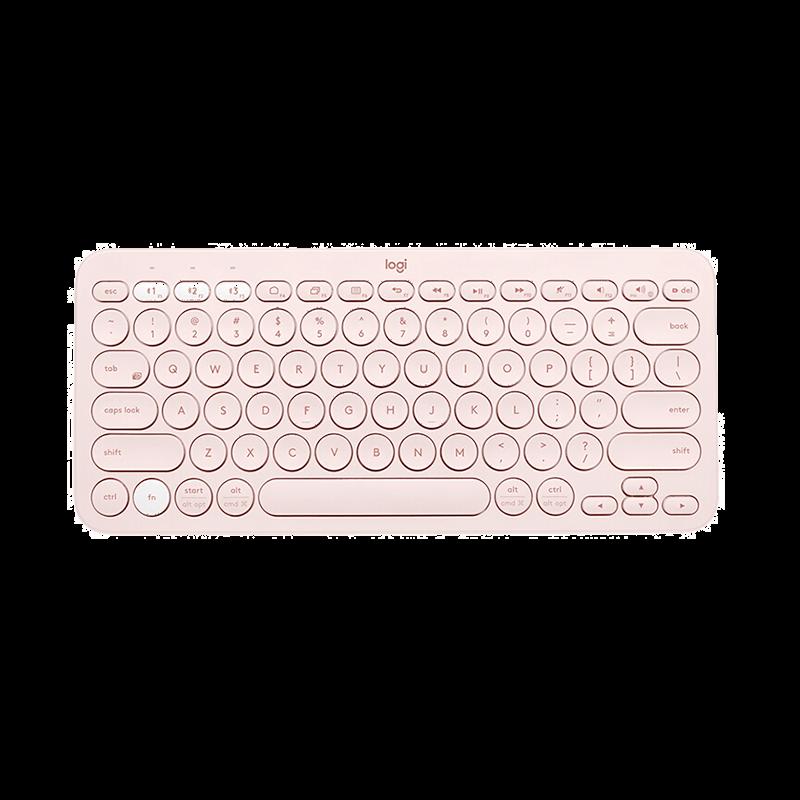 罗技 K380蓝牙键盘 茱萸粉