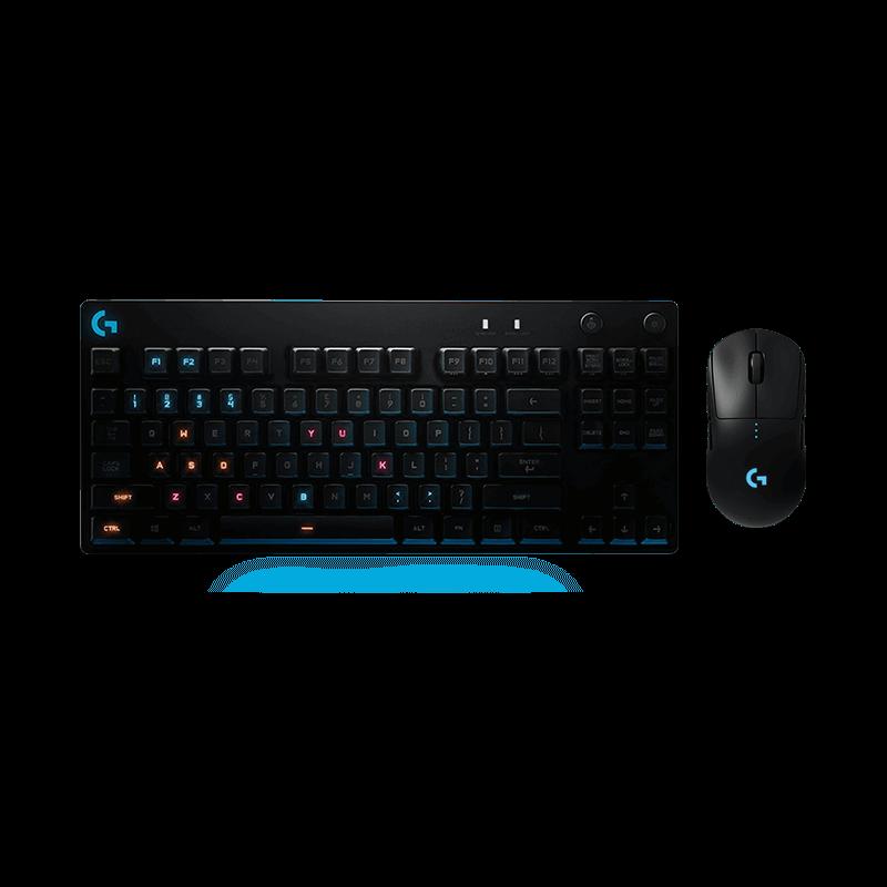 罗技 G Pro无线鼠标+G Pro RGB机械游戏键盘