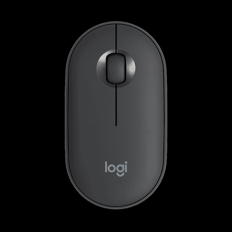 罗技 Pebble鹅卵石鼠标+K380蓝牙键盘 石墨黑