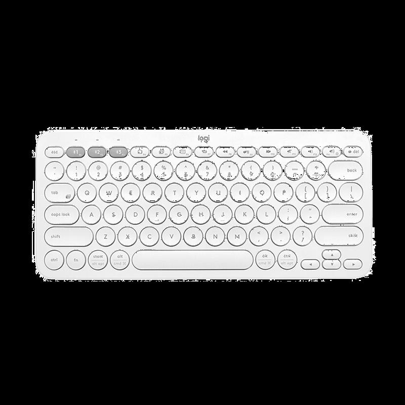 罗技 Pebble鹅卵石鼠标+K380蓝牙键盘 芍药白