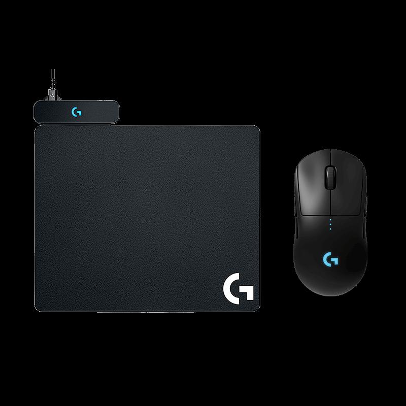 罗技 G PRO无线鼠标+充电鼠标垫