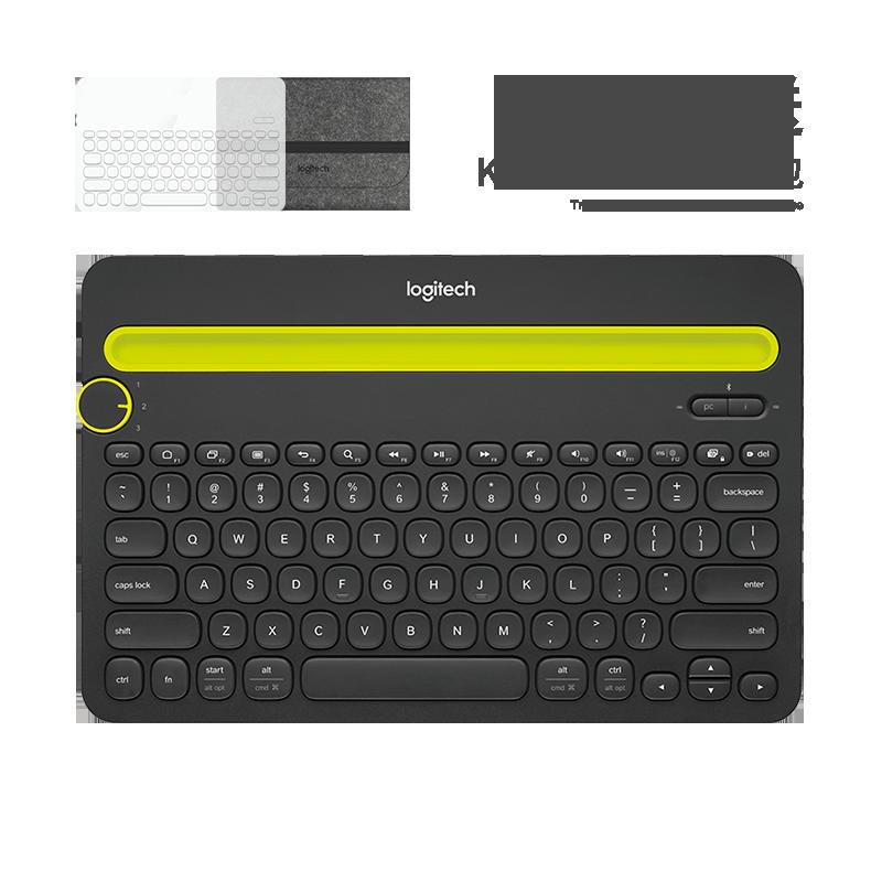 罗技 K480多设备蓝牙键盘 黑色【限量送K480透明键盘膜+k480深灰色键盘包】