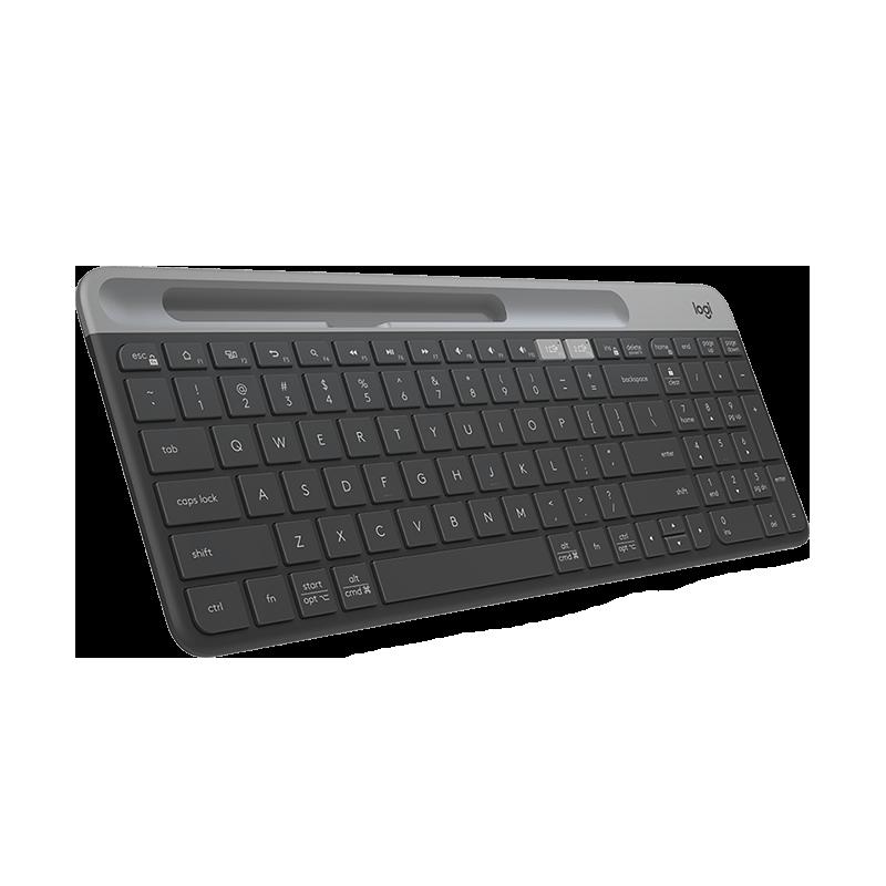罗技 K580 轻薄多设备无线键盘 黑色