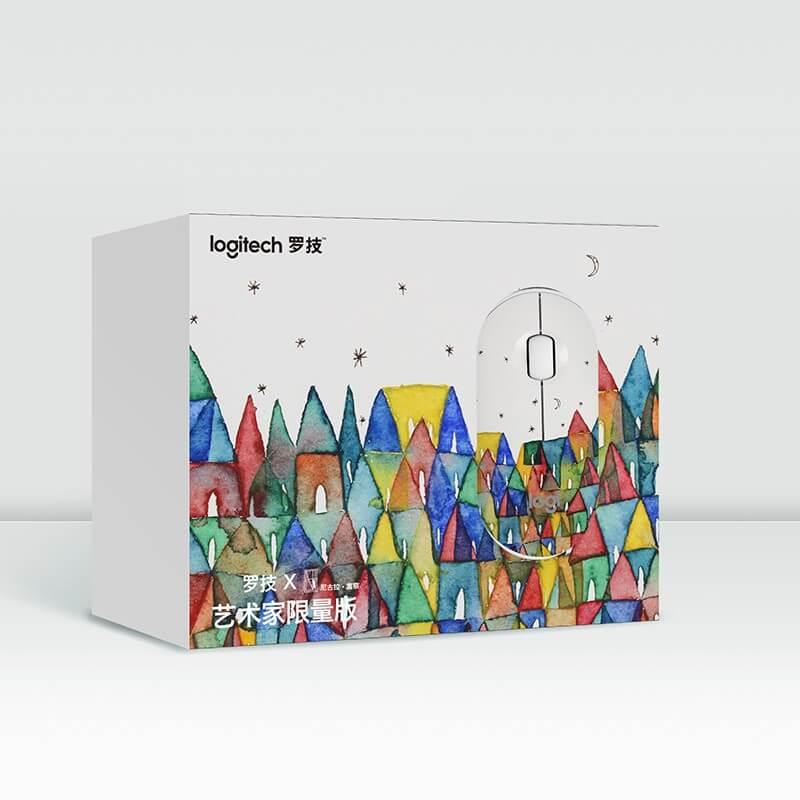 罗技 Pebble鹅卵石轻薄型轻音鼠标 彩色房子