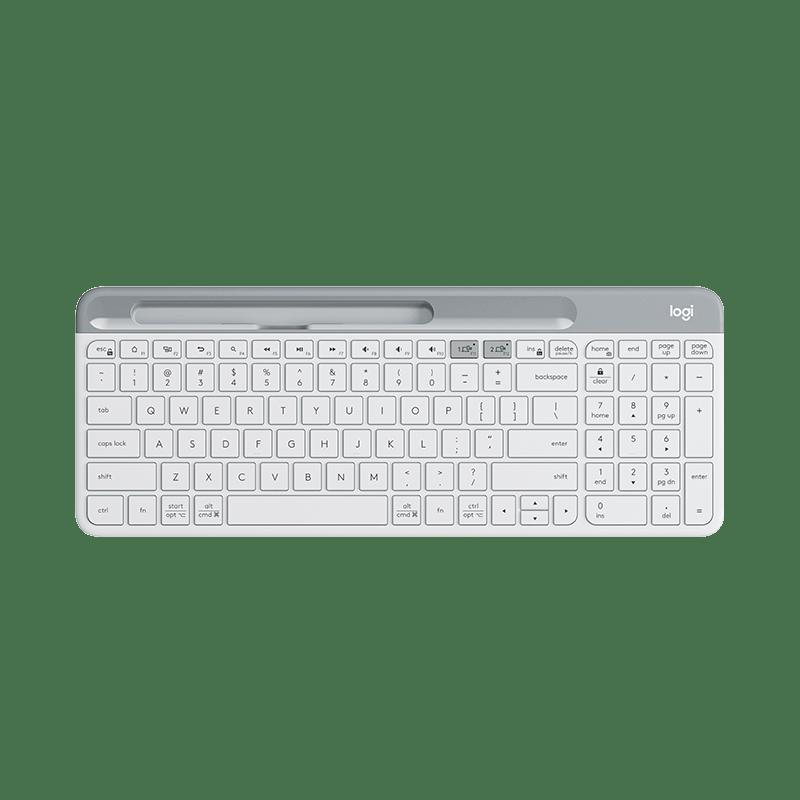 罗技 K580 轻薄多设备无线键盘 白色