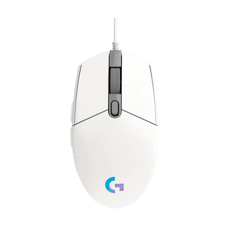 罗技 G102二代 LIGHTSYNC游戏鼠标 白色