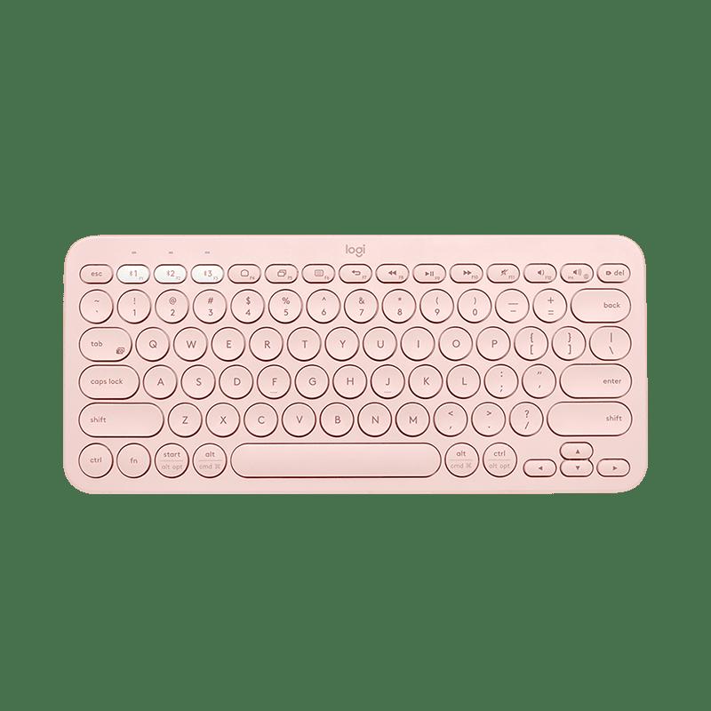 罗技 K380蓝牙键盘 茱萸粉【限量送李易峰充电宝】