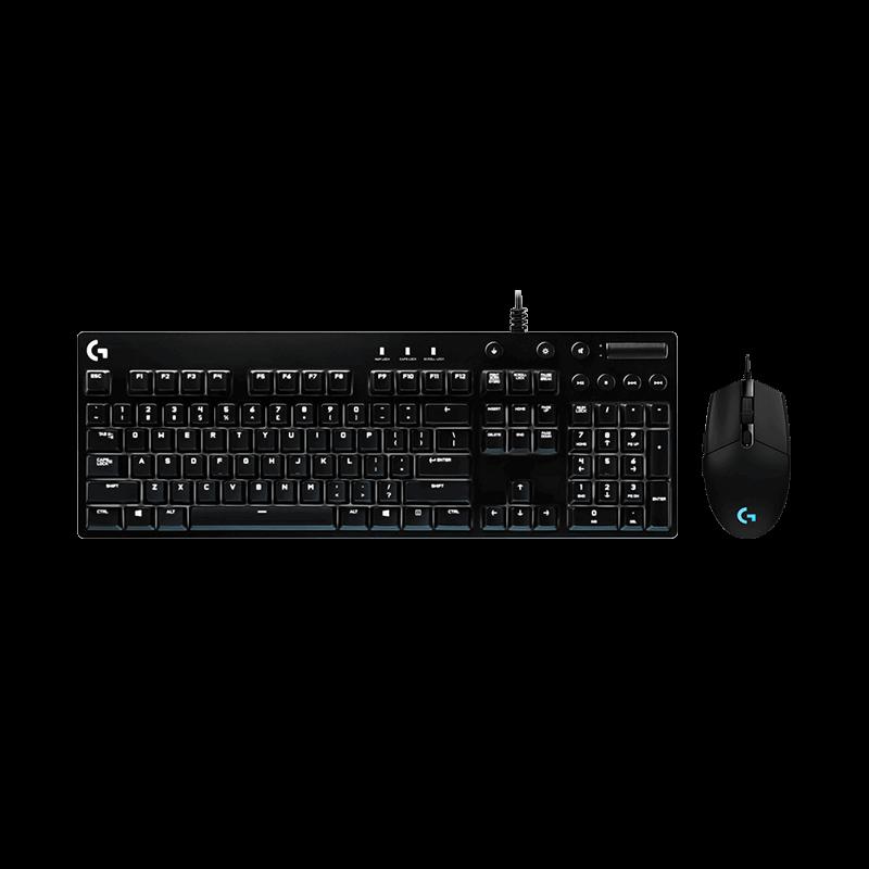 罗技 G102有线炫光鼠标黑色+G610红轴背光机械键盘