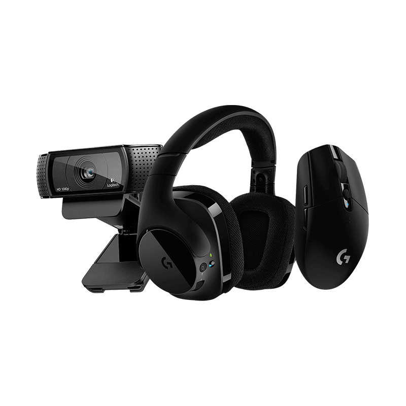罗技 G304无线鼠标黑色+G533无线耳机+C920e摄像头