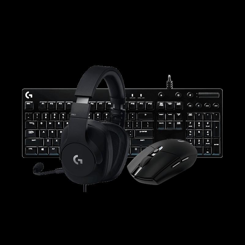 罗技 G304黑色无线鼠标+G610青轴背光机械键盘+G PRO耳机
