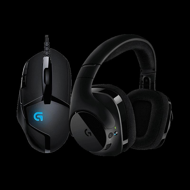 罗技 G402游戏鼠标+G533无线耳机