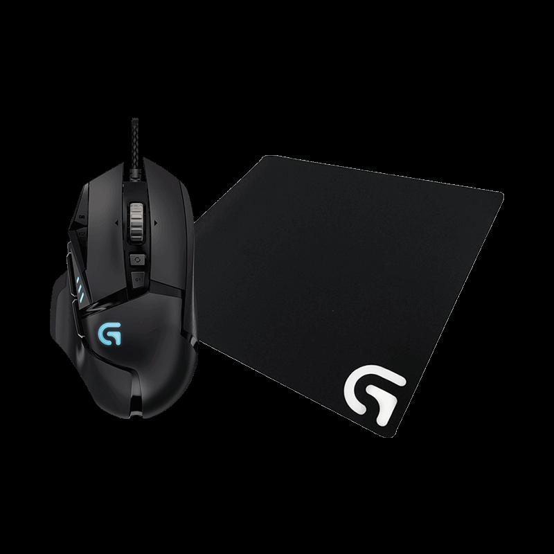 罗技 G502自适应鼠标+G640游戏鼠标垫
