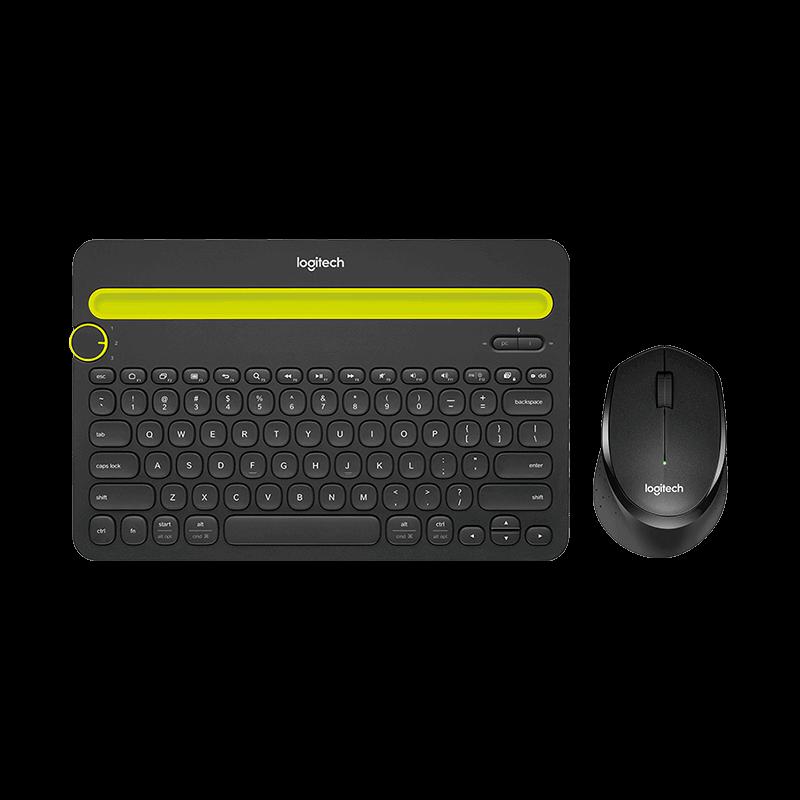 罗技 K480蓝牙键盘+M330轻音鼠标黑色